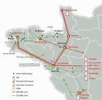 Carte réseau électrique breton