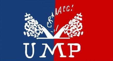 Le-logo-de-l-ump-coupe-en-deux