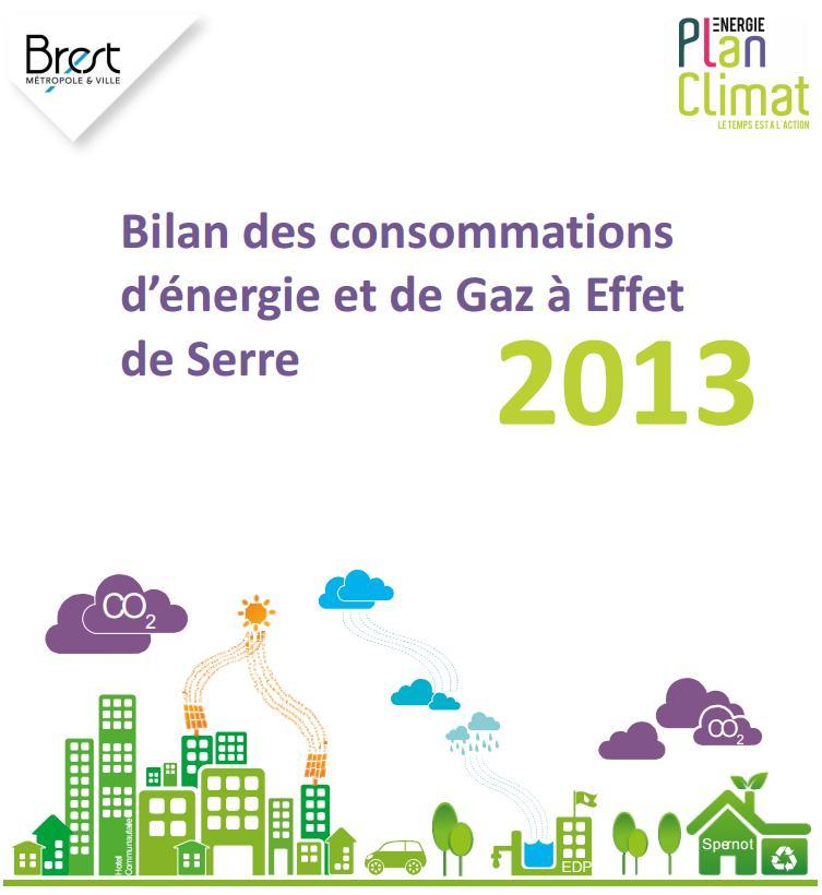Brest_Bilan consommation énergie et GES 2013